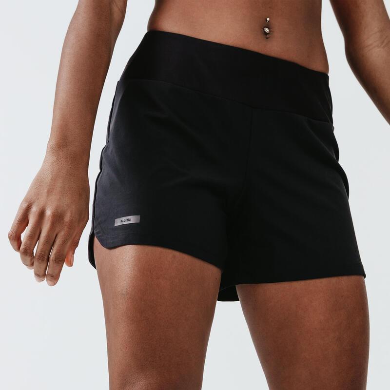 Șort Alergare Jogging Run Dry Negru Damă