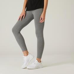 Leggings 7/8 Curtas de Cardio-training em Algodão Fit+ Cinzento Mesclado