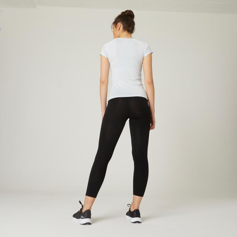 7/8 Cotton Fitness Leggings Fit+ - Black