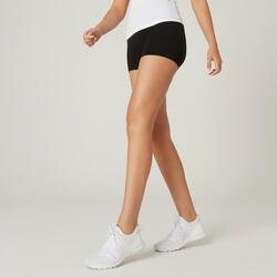 Short voor fitness Fit+ katoen zwart