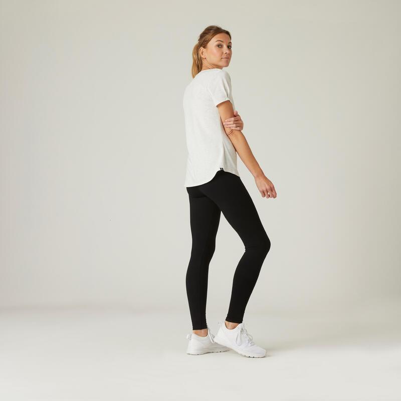 Cotton Fitness Leggings Salto - Black