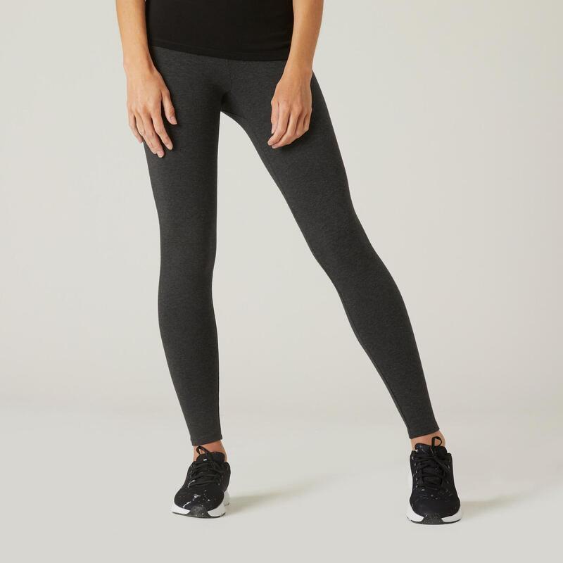 Cotton Fitness Leggings Salto - Mottled Dark Grey