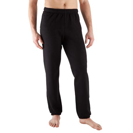 pantalon bas large musculation homme noir domyos by. Black Bedroom Furniture Sets. Home Design Ideas