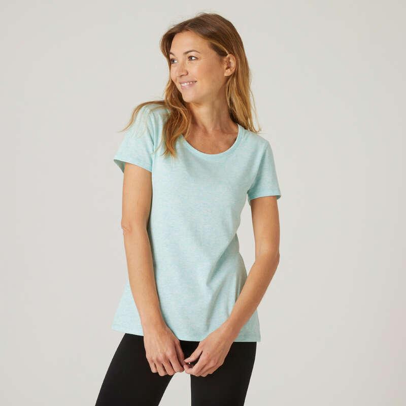 KLÄDER FÖR GYMNASTIK, PILATES, DAM Fitness - T-shirt Regular 500  NYAMBA - Fitnesskläder för dam