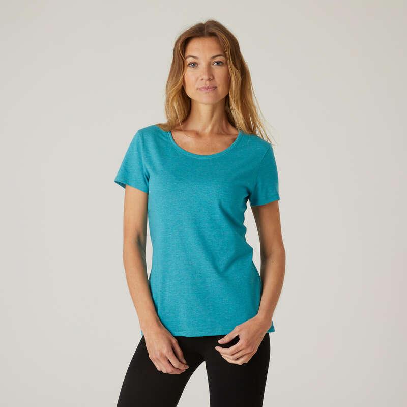KLÄDER FÖR GYMNASTIK, PILATES, DAM Fitness - T-shirt Regular 500 dam  NYAMBA - Fitnesskläder för dam