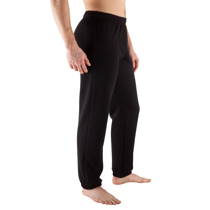 Pantalon bas large musculation homme noir