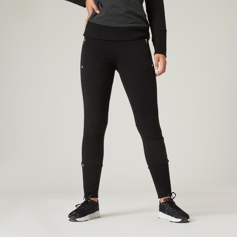 Pantalon Slim fitness 520 negru damă