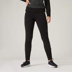 Pantaloni slim donna fitness 520 neri