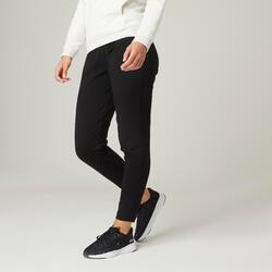 Pantaloni leggeri donna fitness 100 neri