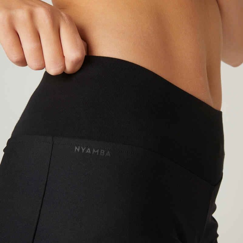 Stretchy 2-in-1 Cotton Fitness Shorts - Black