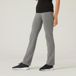 Women's Cotton Gym Pant 500 - Grey