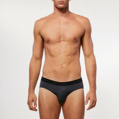 MEN'S BREATHABLE RUNNING BRIEFS ABYSS GREY
