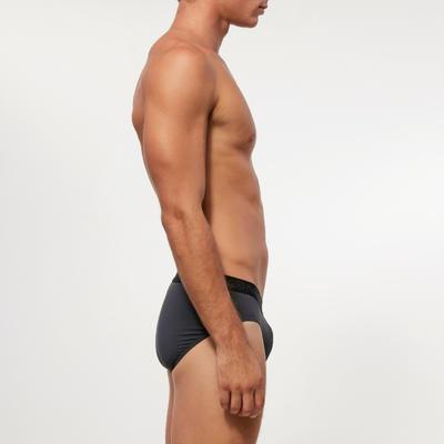מכנסי ריצה קצרים ומאווררים לגברים - אפור כהה