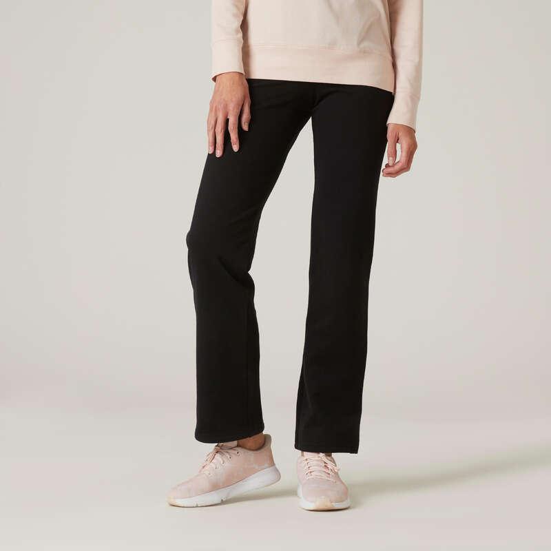 Bekleidung Damen Jacken&Hosen Yoga - Jogginghose 120 Damen schwarz NYAMBA - Yoga Bekleidung