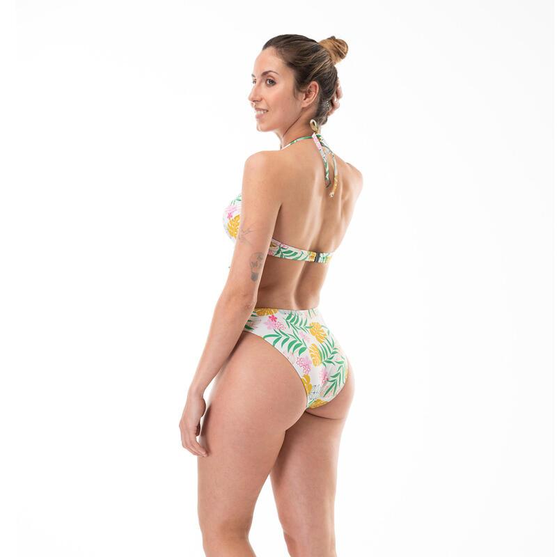 Braga Alta Bikini Mujer Cocoa Surf Estampado Tropical Multicolor