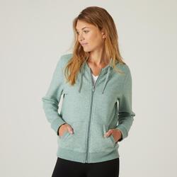 Warm Zippered Fitness Hoodie - Khaki