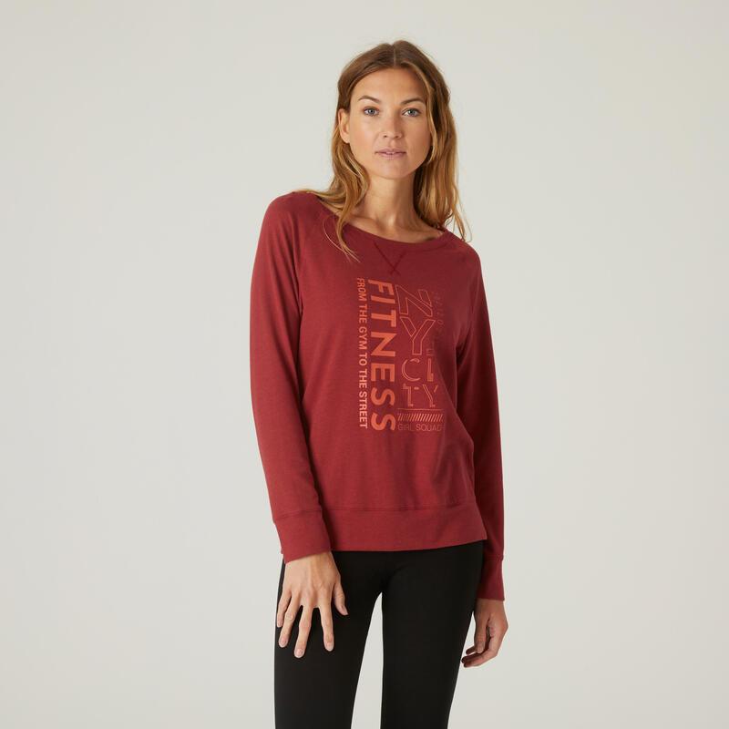 T-Shirt Manches Longues Coton Extensible Fitnes