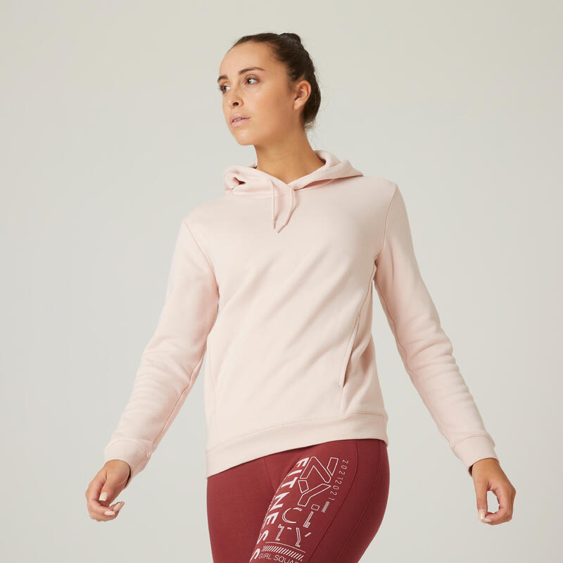 Fitness Hoodie With Kangaroo Pouch - Pink