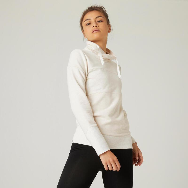 Kadın Sweatshirt - Beyaz - 520