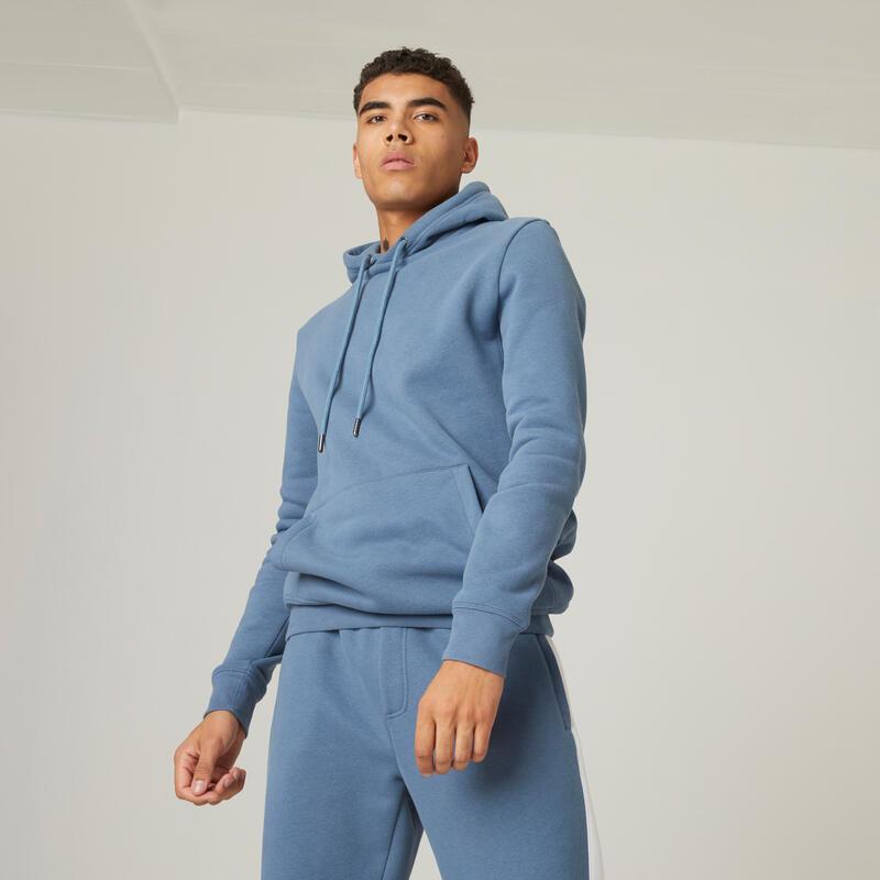 Molton hoodie voor fitness