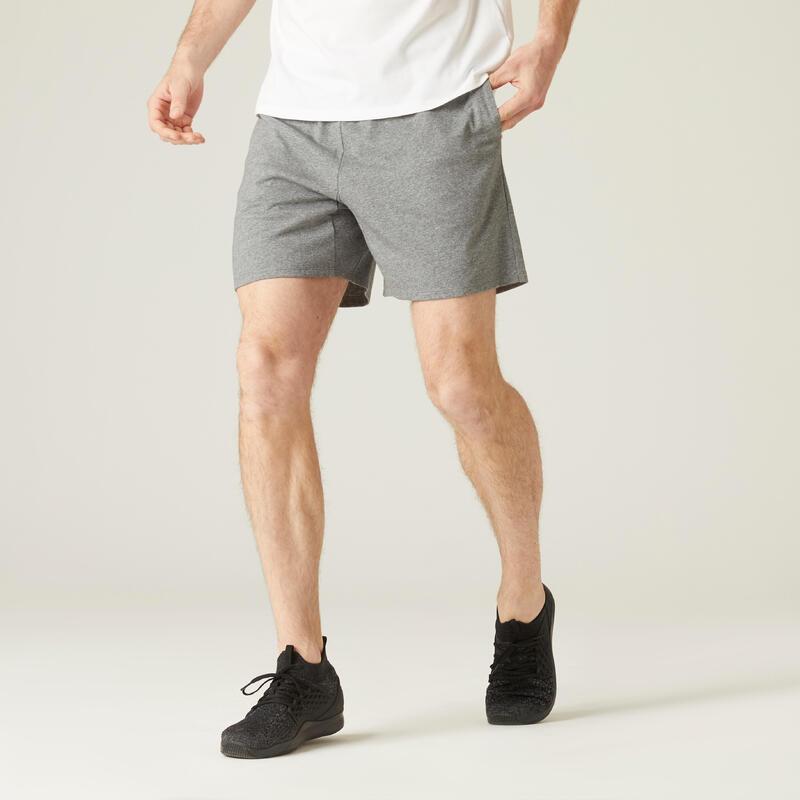100 Kısa Fitness Şortu - Erkek - Gri