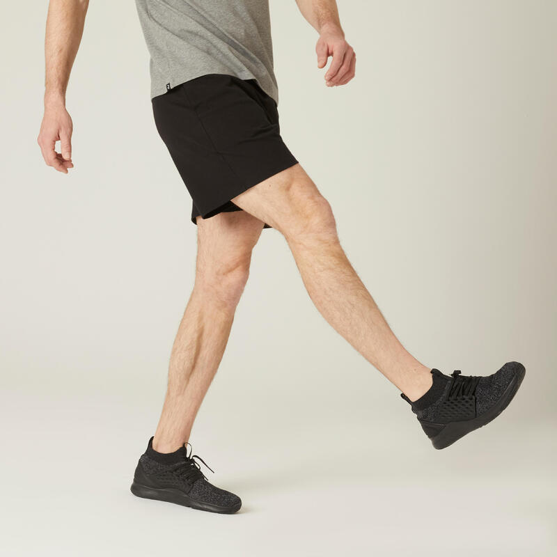100 Kısa Fitness Şortu - Erkek - Siyah