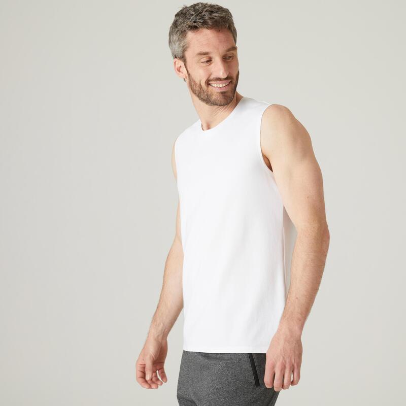 Men's Tank Top 500 - White