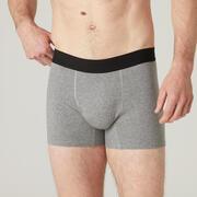 Men's Cotton Gym Boxer - Mottled Grey