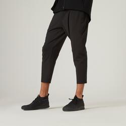 Pantalon jogging 7/8 Fitness Skinny Stretch Noir
