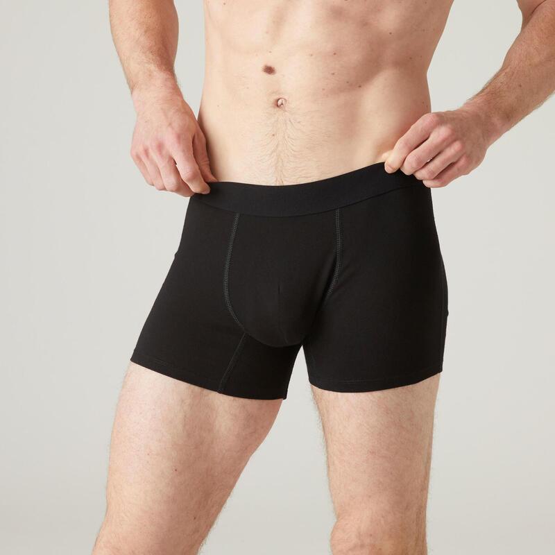 Boxer Coton Extensible Fitness Noir