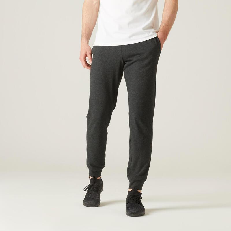 Pantaloni leggeri uomo fitness 120 grigi