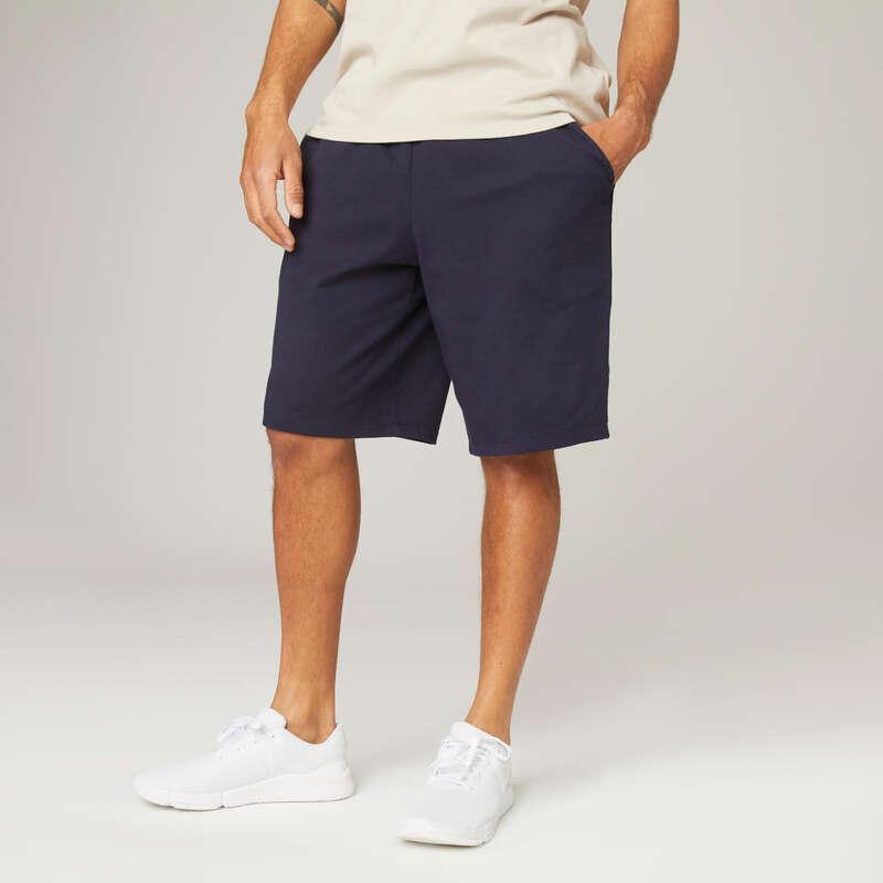 MUŠKA ODJEĆA ZA VJEŽBANJE I PILATES Pilates - Kratke hlače 500 Regular muške NYAMBA - Hlače i kratke hlače za pilates