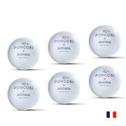BOLA DE PING PONG TTB 100 1* 40+ FR BRANCO (CONJUNTO DE 6) (Fabricada em França)