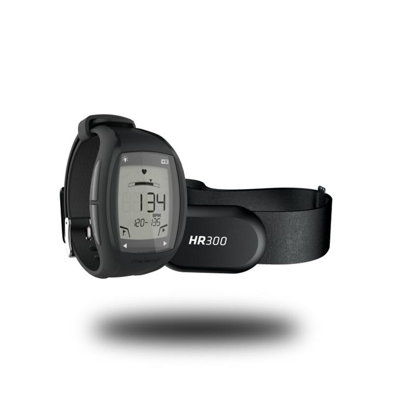 Ceas Monitorizare Ritm Cardiac Alergare Jogging HR300 Negru-Argintiu