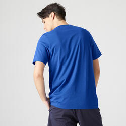 T-Shirt Fitness Herren blau