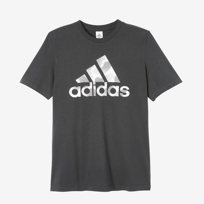 T-shirt fitness Adidas Decadio manches courtes 100% coton col rond homme noir