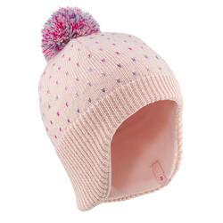 Berretto sci bambina FLAP rosa antico