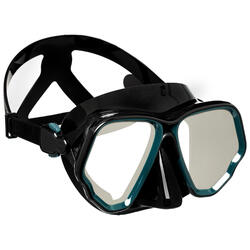 Double diving mask V2 SCD 500 opaque skirt glass MIRROR S 2021 - Black/Grey