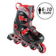 KIDS' INLINE SKATE PLAY 5 - RED/BLACK