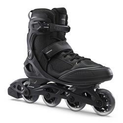 Fitness skates voor heren FIT100 zwart zilver