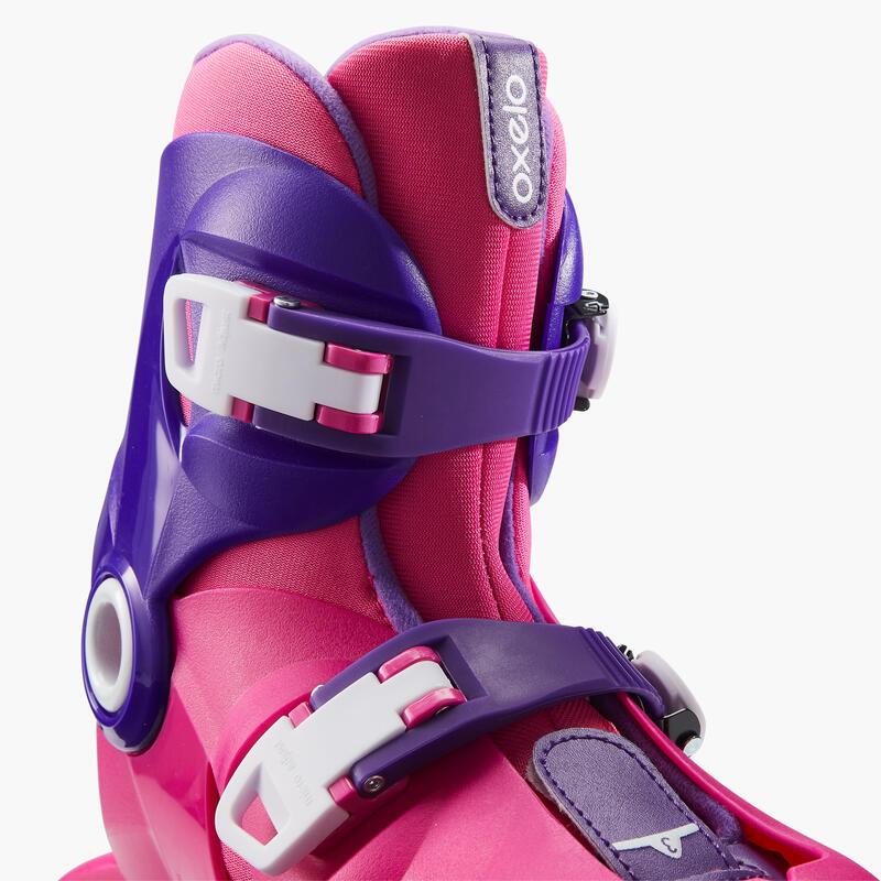 รองเท้าสเก็ตสำหรับเด็กรุ่น Play 3 (สีชมพู/ม่วง)