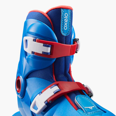 Inline Skates Play 3 Kids Blue/ Red - Oxelo