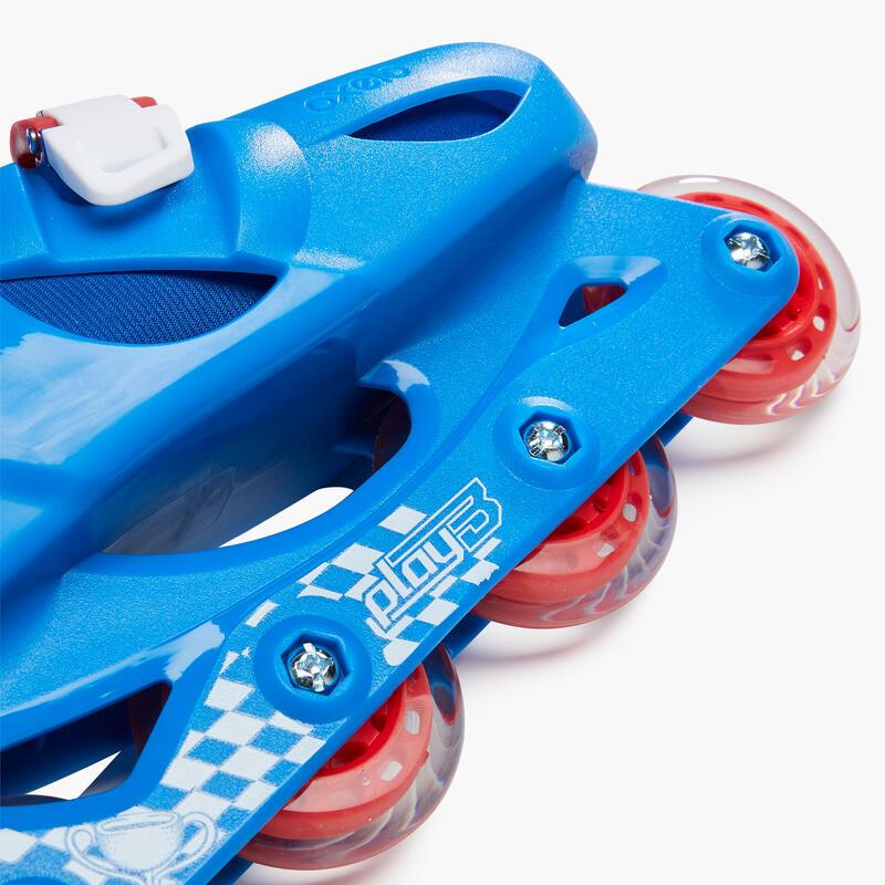 รองเท้าสเก็ตสำหรับเด็กรุ่น Play 3 (สีแดง/ดำ)