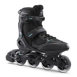 Fitness skates voor volwassenen FIT100 zwart mint uniseks