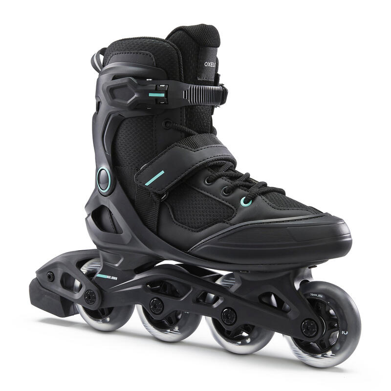 Roller fitness adulto FIT100 nero-verde