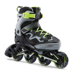 Fit 3 Kids' Inline Skates (4 Adjustable Sizes) - Grey/Yellow