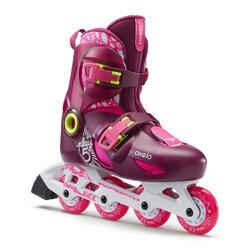 Play 5 Kids' Inline Skates (3 Adjustable Sizes) - Pink