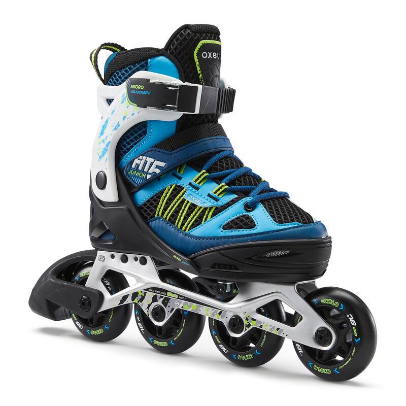 Patins à roues alignées entraînement enfant FIT 5 Jr bleu blanc
