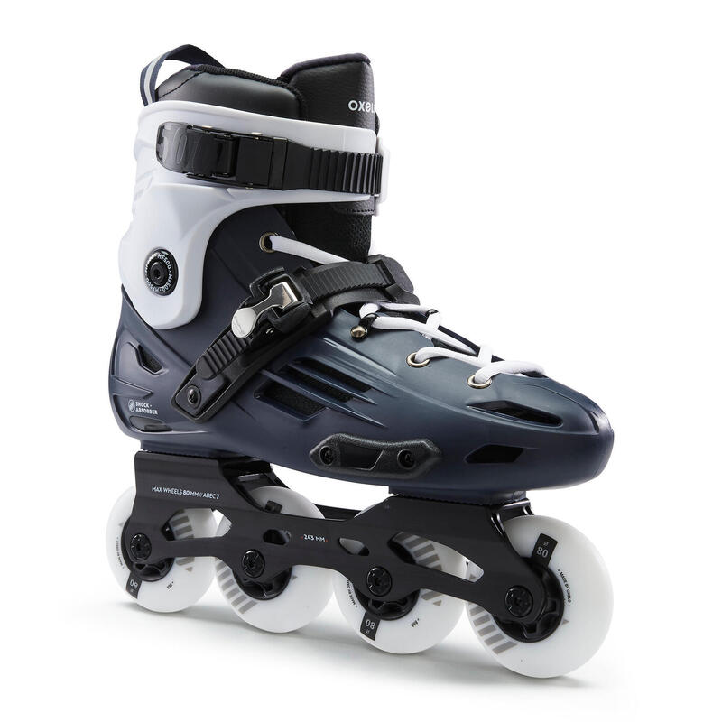 Roller in linea freeride hardboot adulto MF500 azzurro-bianco