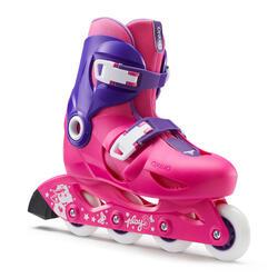 Play 3 兒童滾軸溜冰鞋 (可調整3種尺寸)- 粉紅/紫色
